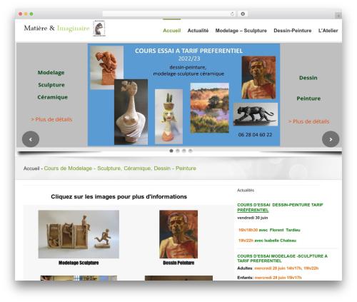 Theme WordPress Avada - matiere-imaginaire.fr