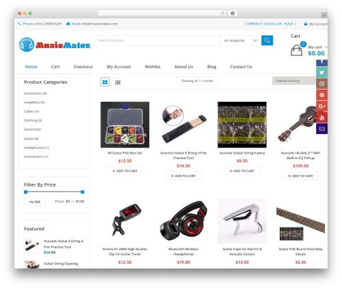 Theme WordPress Clickbuy - musicmatez.com