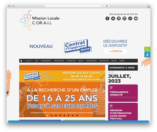 Twenty Fifteen WordPress page template - missionlocalecorail.fr