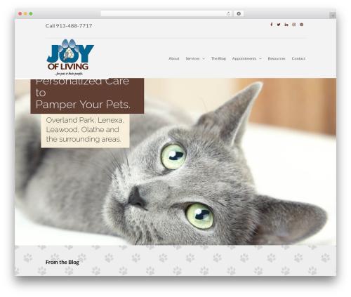 WordPress theme PetPress - myjoyofliving.com