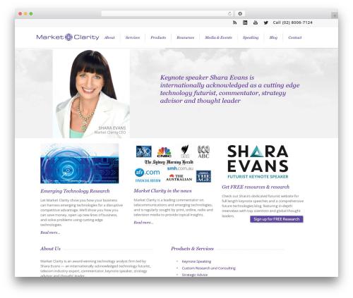 WordPress website template Lounge - marketclarity.com.au