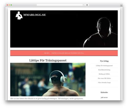 Xinxin best free WordPress theme - mmablogg.se