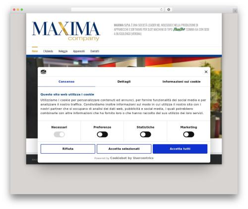 Avada business WordPress theme - maximacompany.it