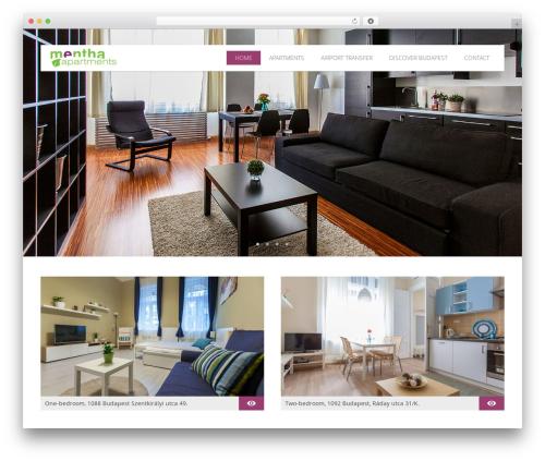 Best WordPress template Hoteliour - menthaapartments.com