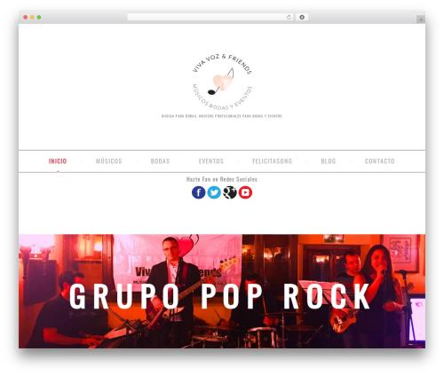 cherry WordPress theme - musicosbodasyeventos.com