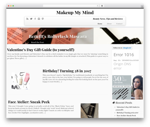 Customizr WP theme - makeupmymind.ca