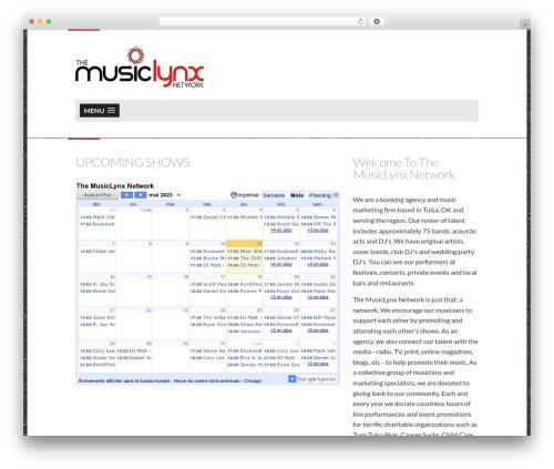 Dubstep top WordPress theme - musiclynxnetwork.com