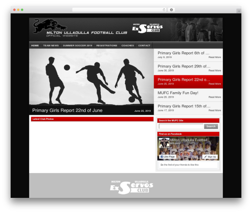 Football Club WordPress theme - mufc.net.au