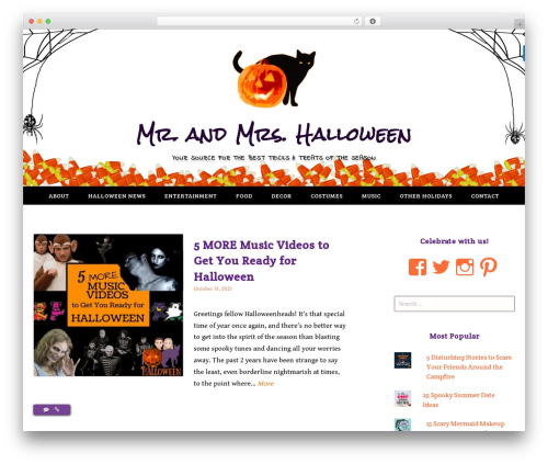 Gateway - WordPress.com WordPress theme - mrandmrshalloween.com