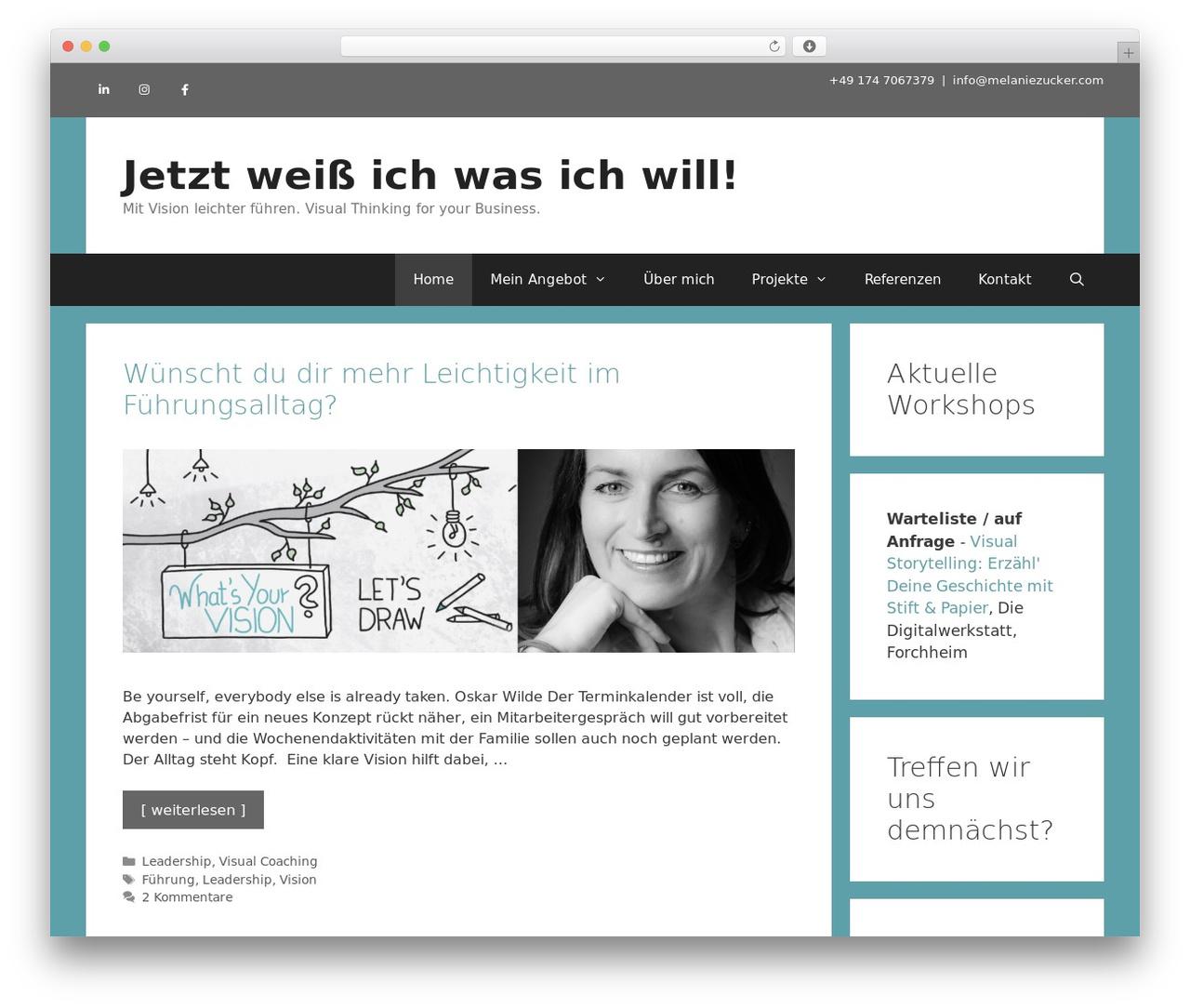 GeneratePress WordPress theme download - melaniezucker.com
