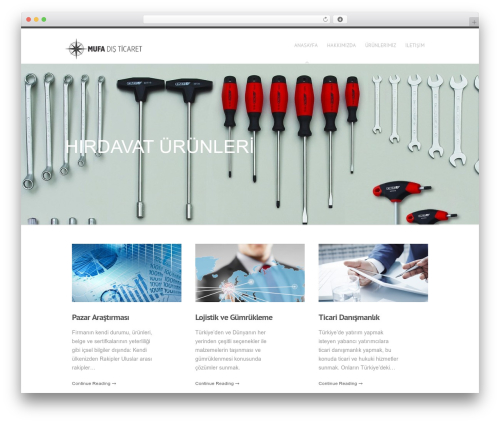 Hyperion WordPress template - mufaforeigntrade.com