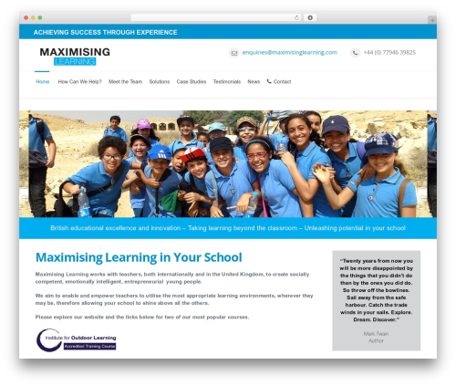 Mexin WordPress page template - maximisinglearning.com