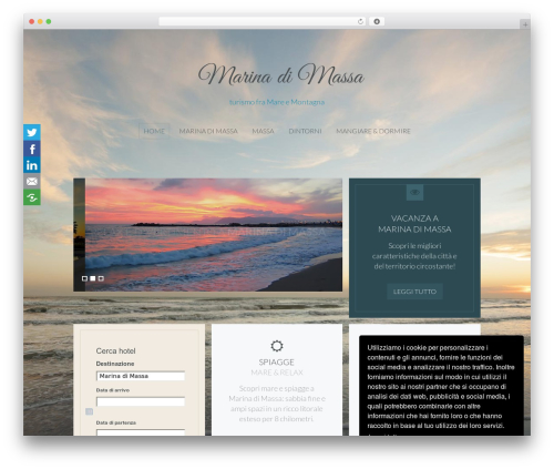 Organic WordPress template - marinadimassa.biz