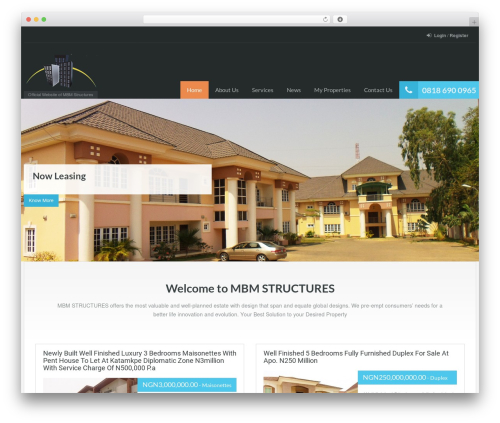 RealHomes Theme WP theme - mbmstructures.com