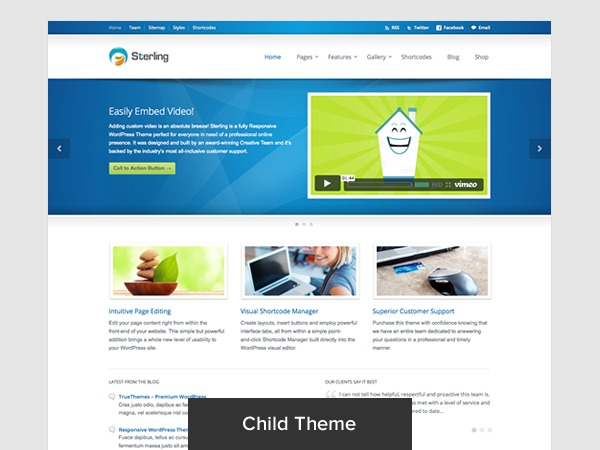 Sterling Child Theme WP template