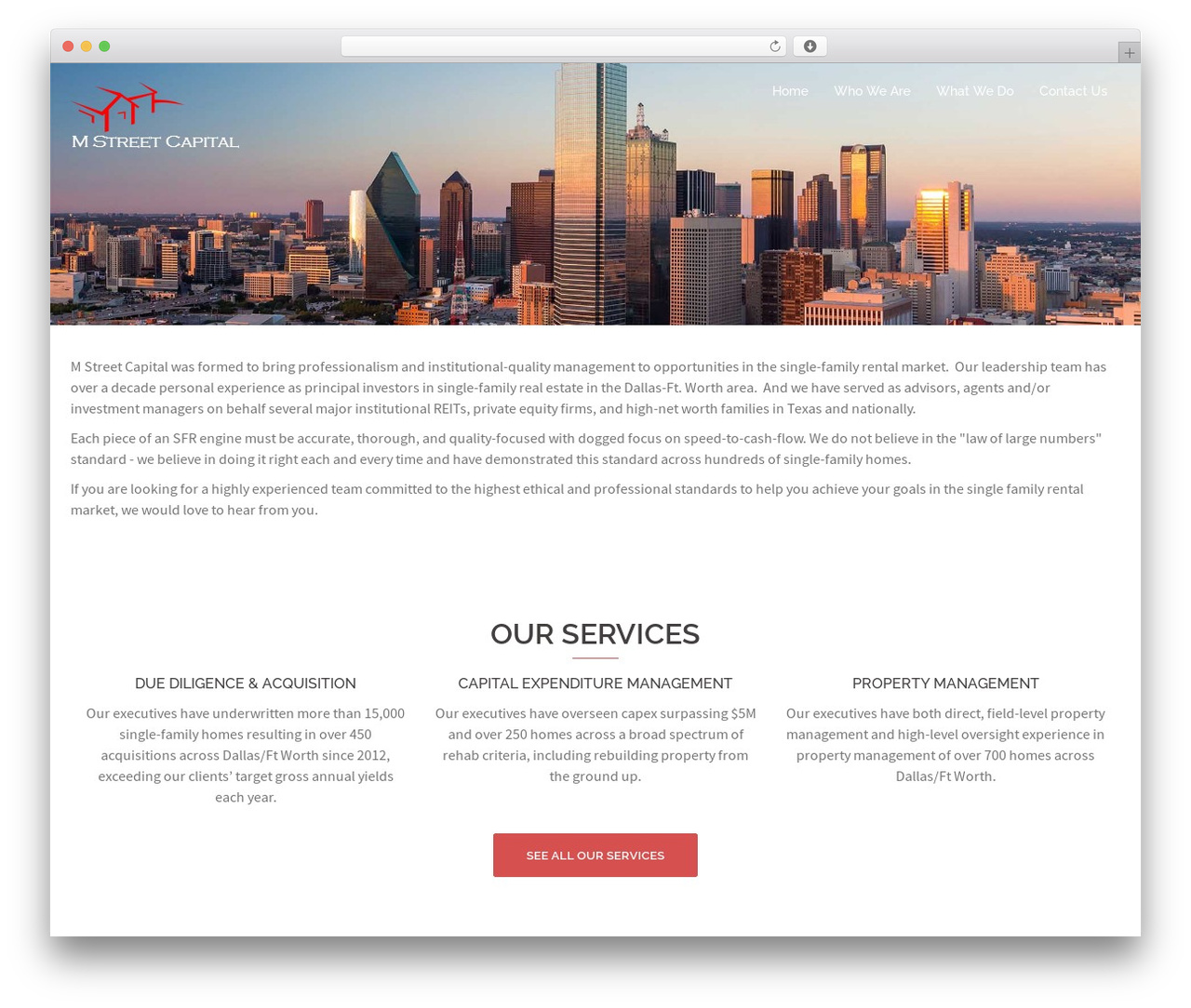 Sydney best free WordPress theme - mstreetcap.com
