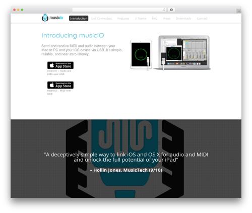 Theme WordPress Encore - musicioapp.com