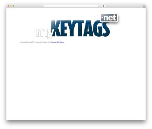 WordPress template Blank Theme - mykeytags.net