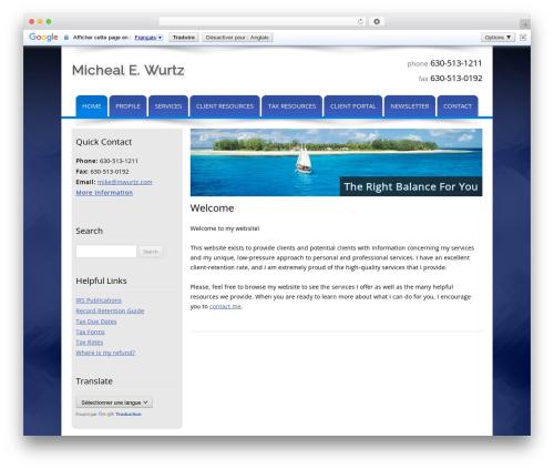 WordPress website template Customized - mwurtz.com