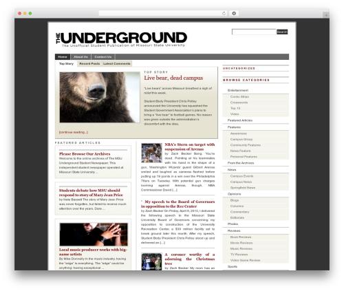 WordPress website template PRiNZ BranfordMagazine 3.0 - msu-underground.com