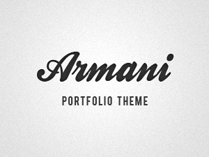 WP theme Armani