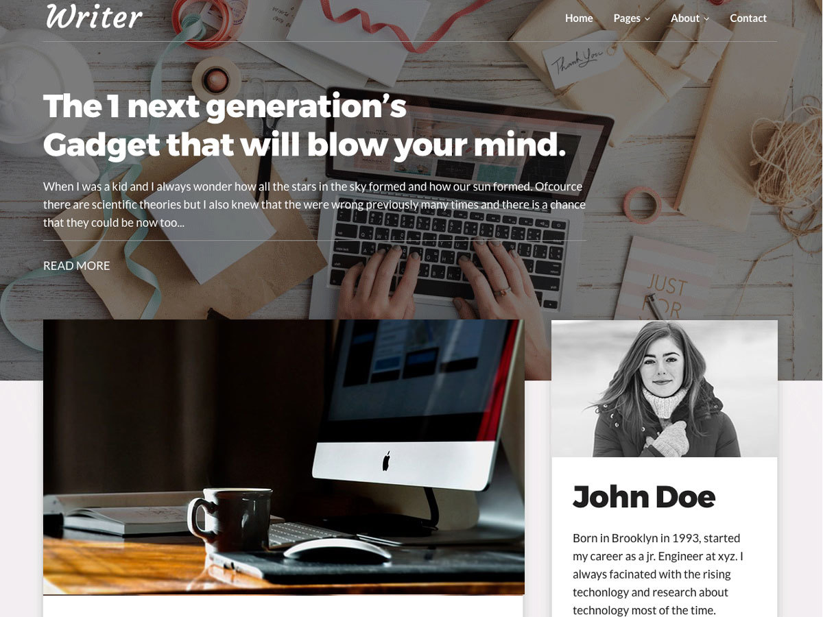 Writer Blog WordPress blog template