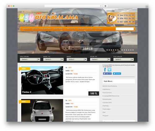Best WordPress template Gears - msmotokiralama.com