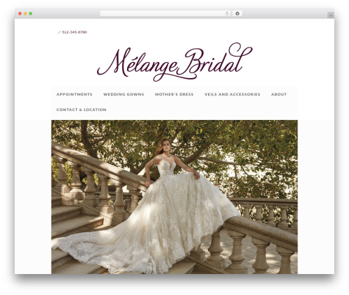 Betheme WordPress ecommerce theme - melangebridal.com