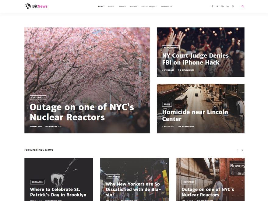 BitNews WordPress news theme