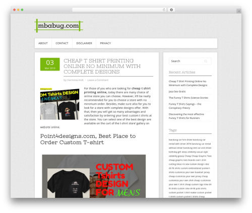 Contango WordPress theme - mbabug.com