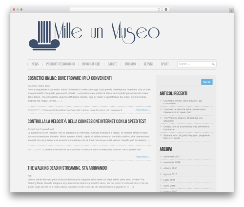 Hannari top WordPress theme - milleunmuseo.it