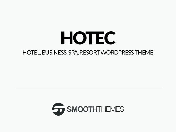 Hotec best hotel WordPress theme