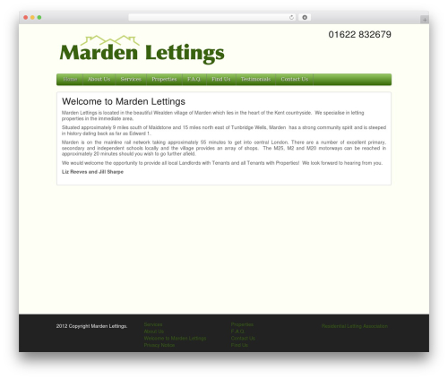 iFeature Pro WP template - mardenlettings.co.uk