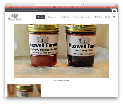 JV Allinone WordPress theme - maxwellfarms.com
