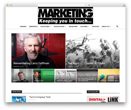 Newspaper WordPress theme - marketingnw.com