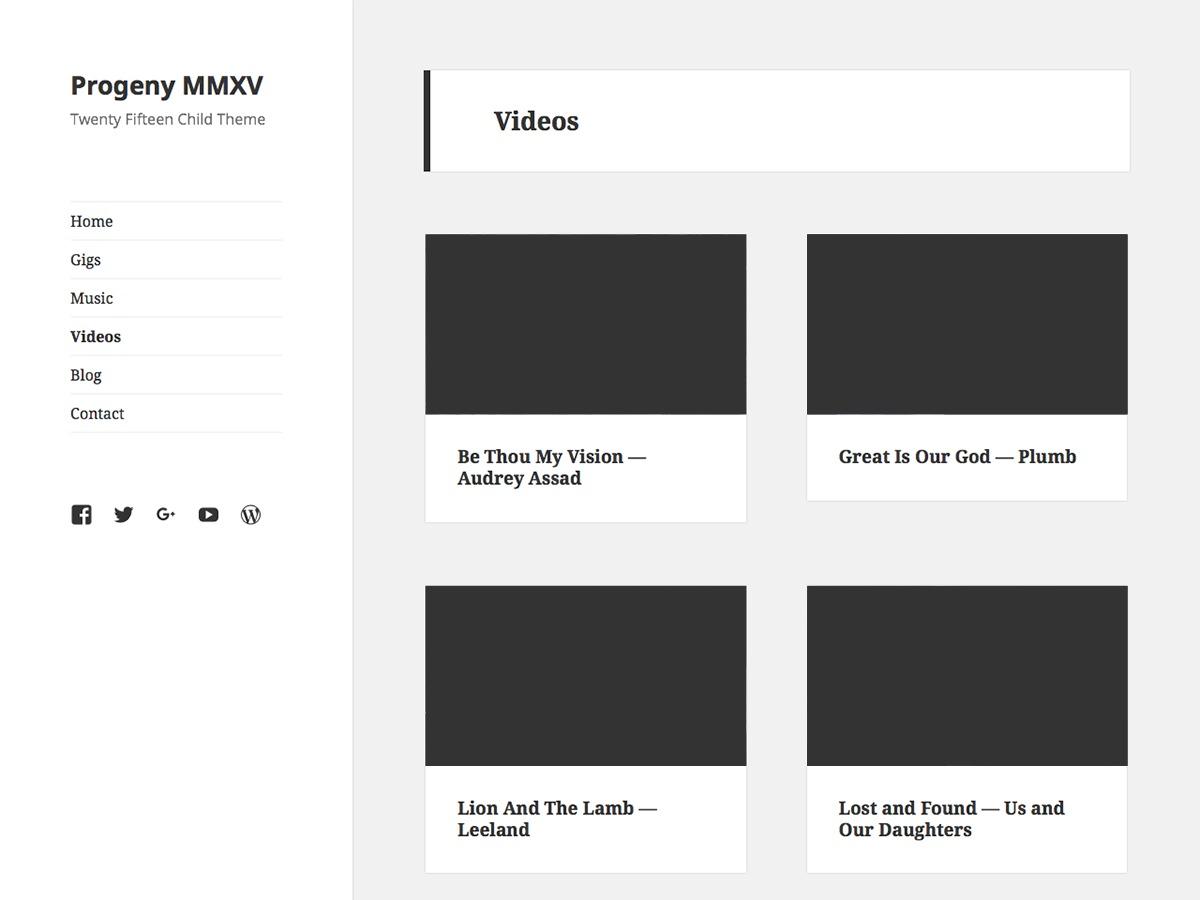 Progeny MMXV free WordPress theme
