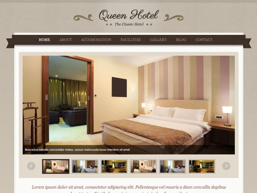 QueenHotel theme WordPress portfolio
