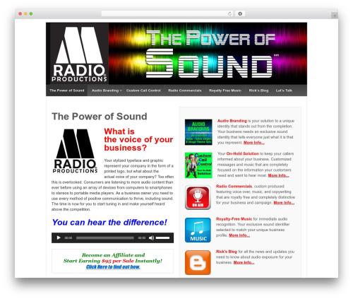 Responsive WordPress theme design - mradioproductions.com