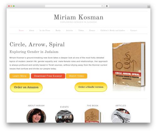Template WordPress Swank Theme - miriamkosman.com