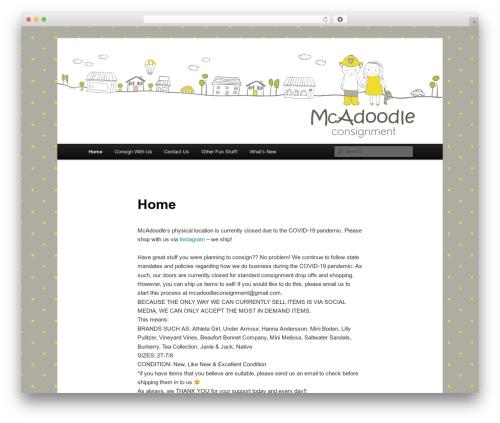 Twenty Eleven WordPress theme download - mcadoodleconsignment.com