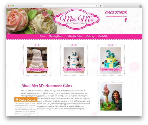 U-Design best wedding WordPress theme - mrsmhomemadecakes.co.uk