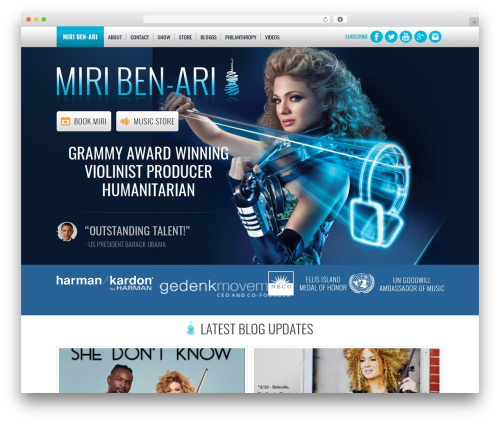 WordPress theme BLANK Theme - miribenari.com