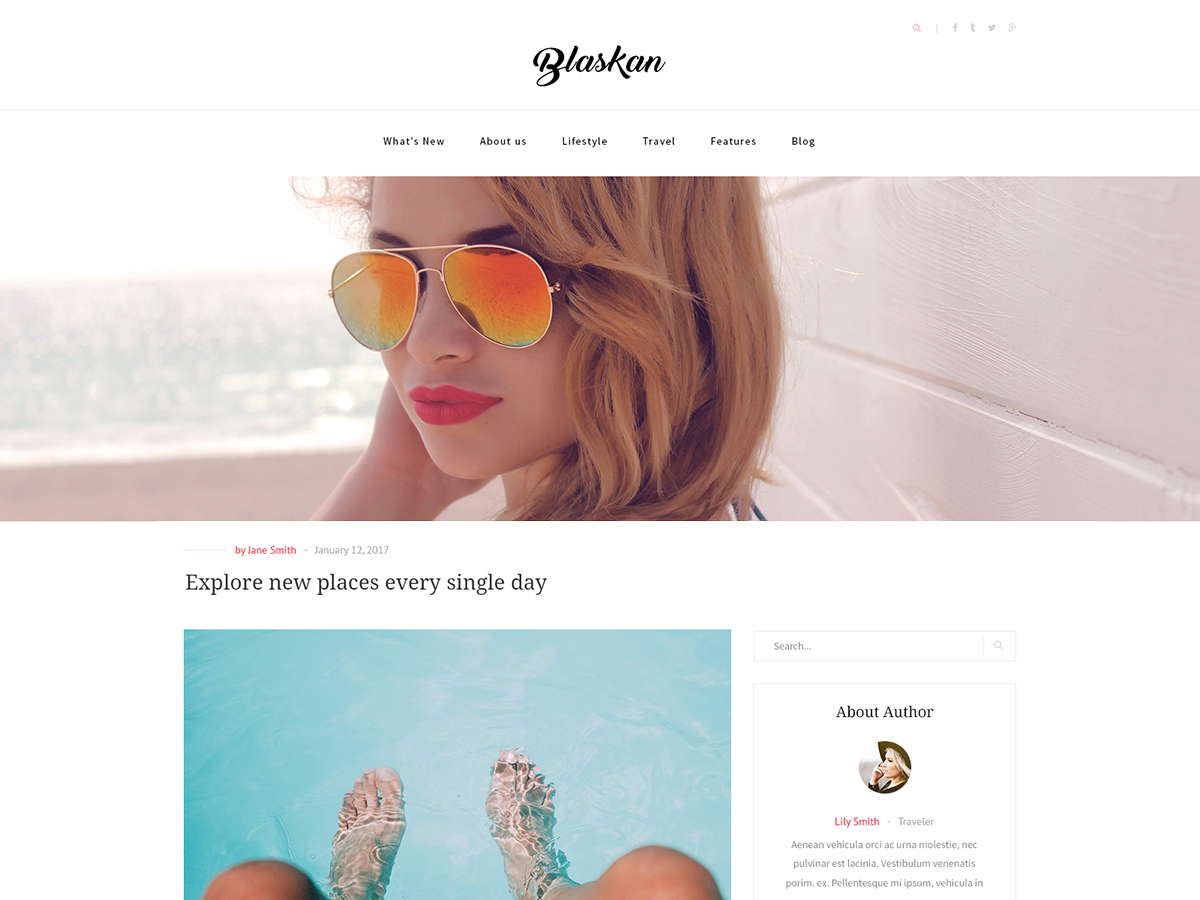 WordPress theme Blaskan Child
