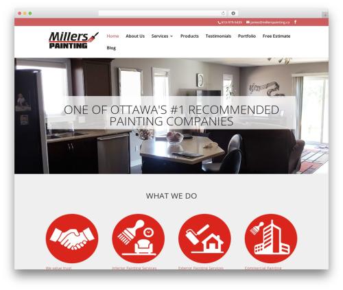 WordPress website template Divi - millerspainting.ca