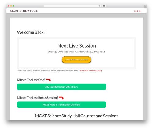 WordPress x-shortcodes plugin - mcatstudyhall.com