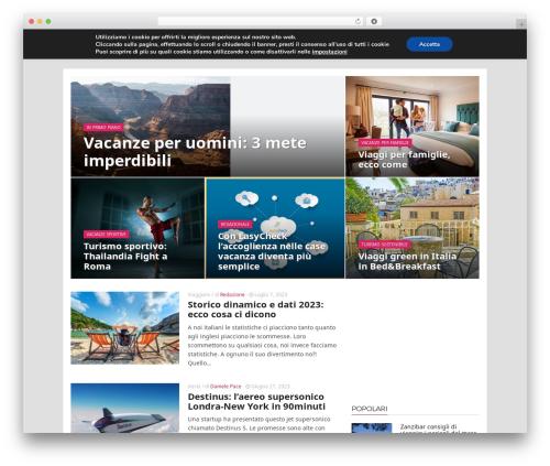 ADMAG WordPress blog template - mondoviaggiblog.com
