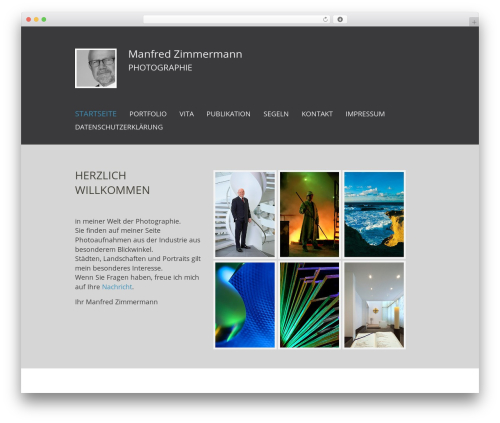 Baylys WordPress website template - manfredzimmermann.de