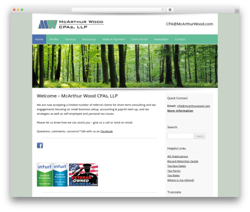 Best WordPress template Customized - mcarthurwood.com