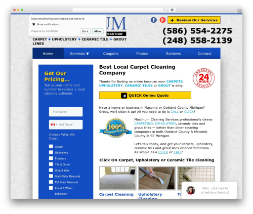 Best WordPress theme Unity - maximumcarpetcleaning.net