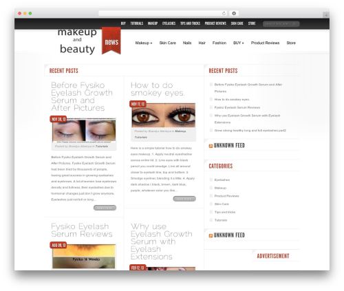 Delicate News best WordPress magazine theme - makeupandbeautynews.com